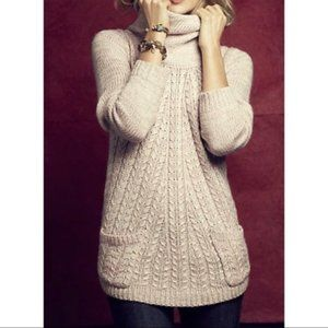 Anthropologie Guinevere Pink Cowl Neck Sweater